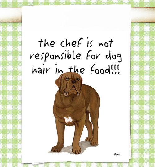 Dogue de Bordeaux Flour Sack Kitchen Towel