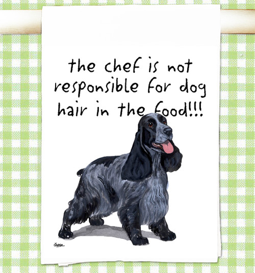 English Cocker Spaniel Flour Sack Kitchen Towel