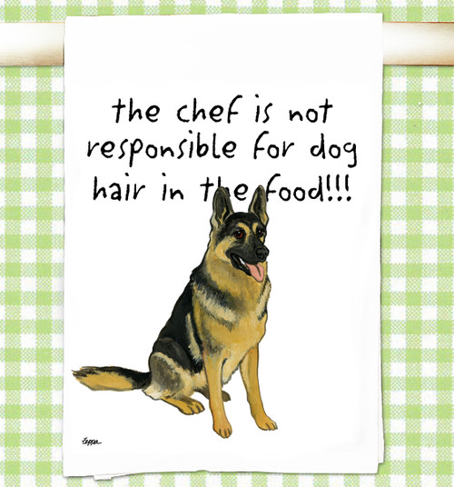 German Shepherd Flour Sack Kitchen Towel