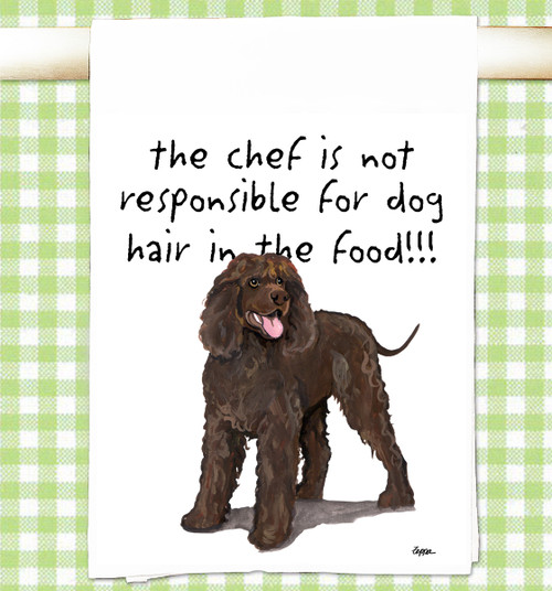 Irish Water Spaniel Flour Sack Kitchen Towel