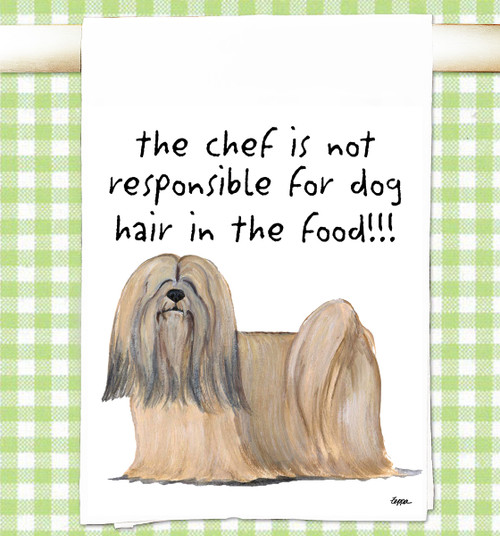 Lhasa Apso Flour Sack Kitchen Towel