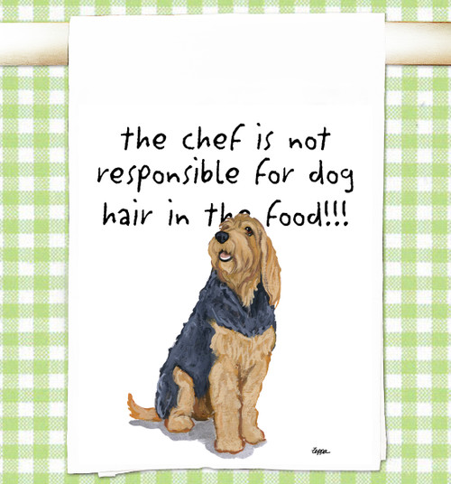 Otterhound Flour Sack Kitchen Towel