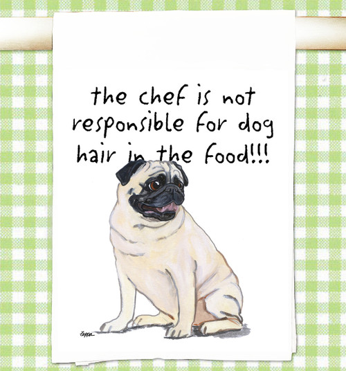 PUG Flour Sack Kitchen Towel