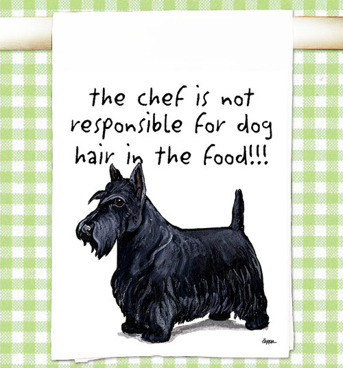 Scottish Terrier Flour Sack Kitchen Towel