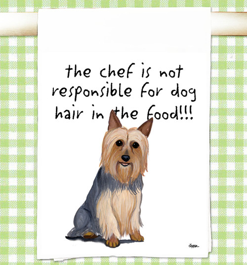 Silky Terrier Flour Sack Kitchen Towel