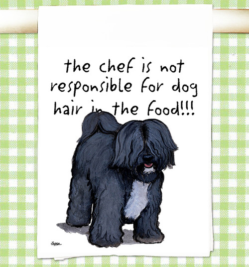 Tibetan Terrier Flour Sack Kitchen Towel