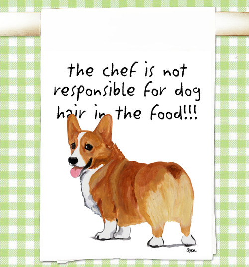Welsh Corgi Flour Sack Kitchen Towel