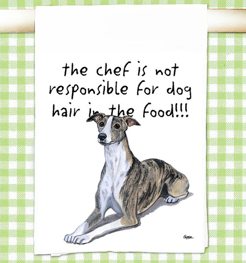 Whippet Flour Sack Kitchen Towel