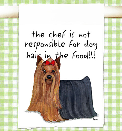 Yorkshire Terrier Flour Sack Kitchen Towel