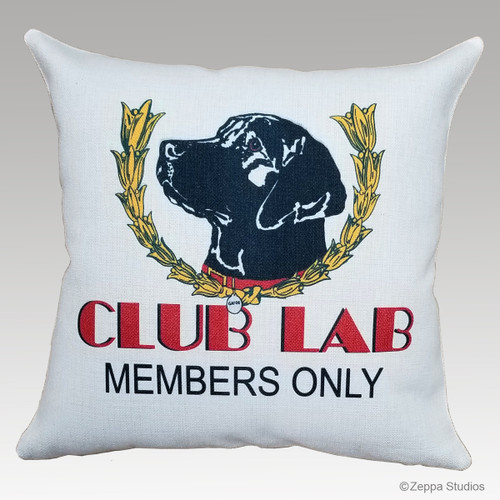 Club Lab Pillow with Black Lab