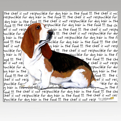 Basset Hound Message Cutting Board - Rectangular