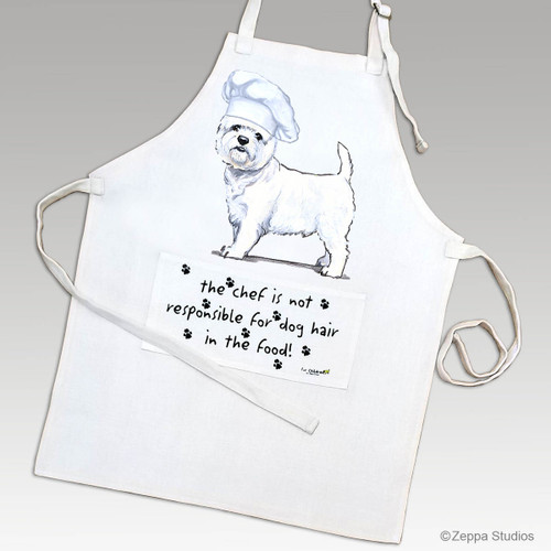 Zeppa Studios' West Highland White Terrier Apron