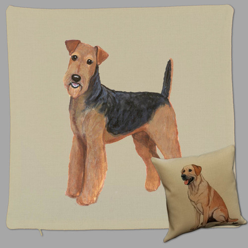 Zeppa Studios Airedale Throw Pillow