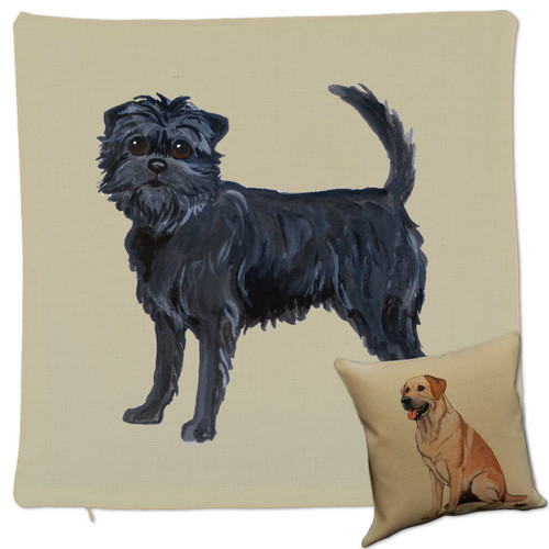 Zeppa Studios' Affenpinscher Throw Pillow