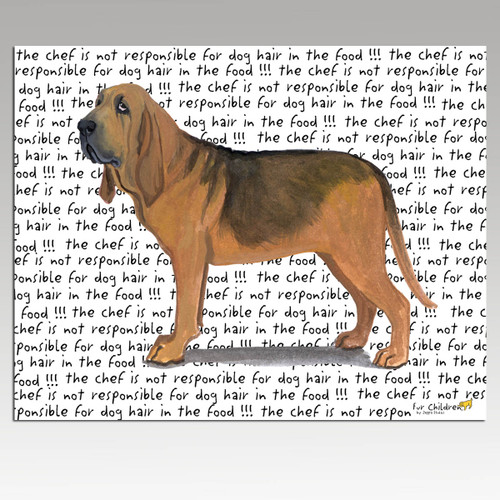 Bloodhound Message Cutting Board - Rectangular