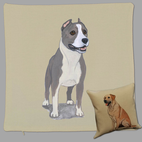 Zeppa Studios Amstaff Throw Pillow