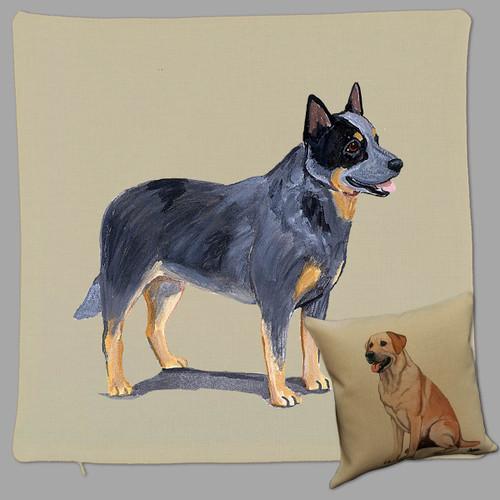 Zeppa Studios' Australian Cattle Dog Throw Pillow