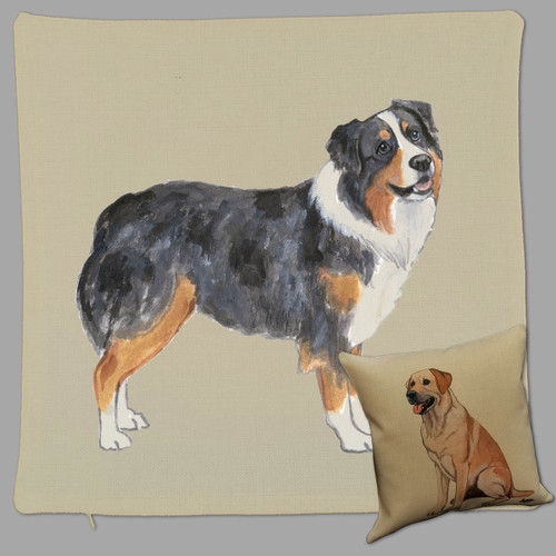 Zeppa Studios Australian Shepherd Throw Pillow