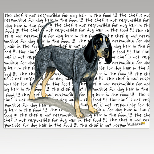 Bluetick Coonhound Cutting Board