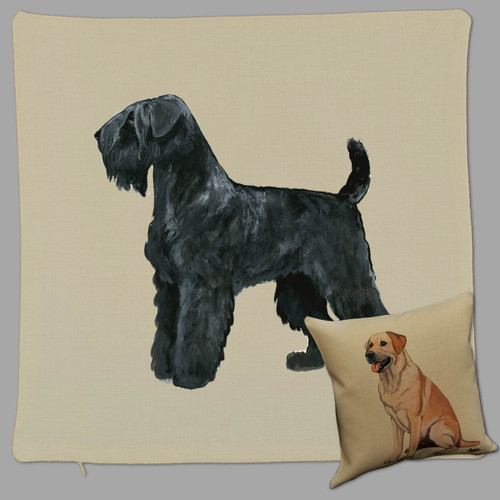 Zeppa Studios' Black Russian Terrier Throw Pillow
