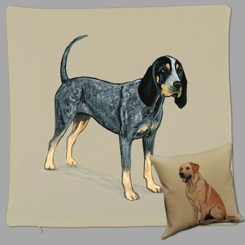 Zeppa Studios' Bluetick Coonhound Throw Pillow