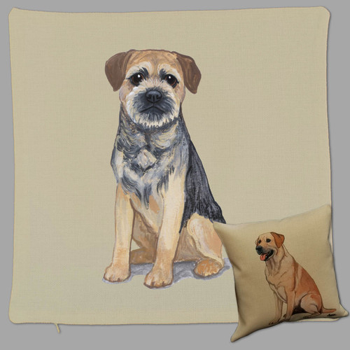 Zeppa Studios' Border Terrier Throw Pillow