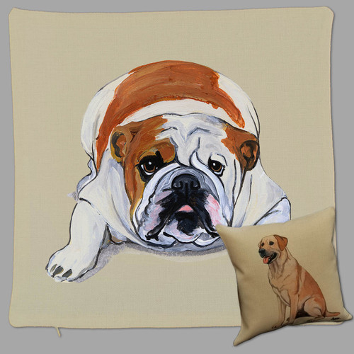 Zeppa Studios'Bulldog Throw Pillow