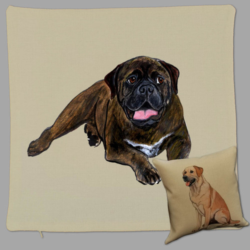 Zeppa Studio's Bullmastiff Throw Pillow