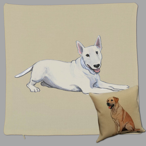 Zeppa Studios' Bull Terrier Throw Pillow