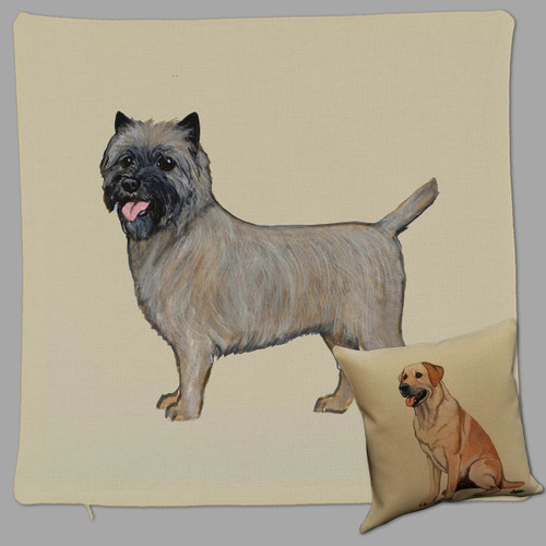 Zeppa Studios' Cairn Terrier Throw Pillow