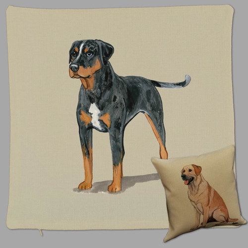 Zeppa Studios' Catahoula Leopard Dog Throw Pillow