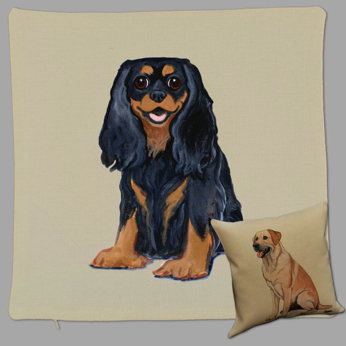 Black and Tan Cavalier King Charles Throw Pillow