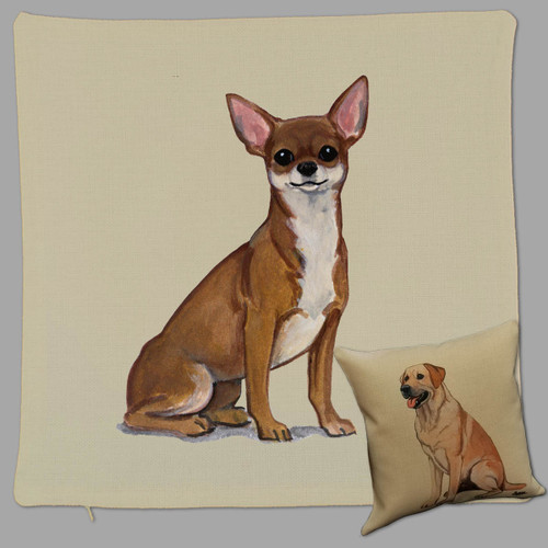 Zeppa Studios' Chihuahua Throw Pillow