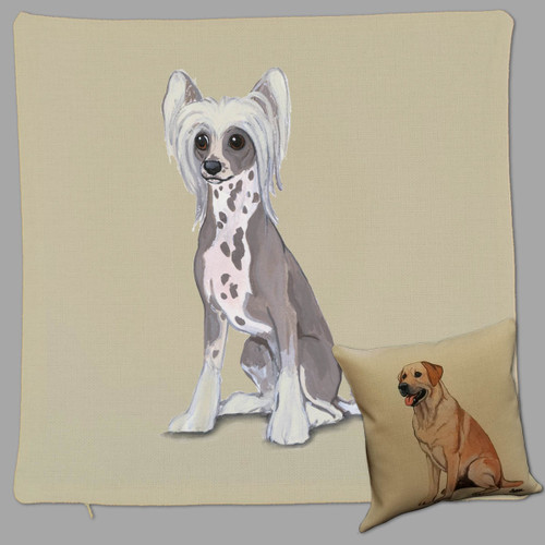 Zeppa Studios Chinese Crested Throw Pillow