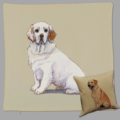 Zeppa Studios Clumber Spaniel Throw Pillow