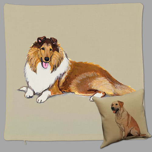 Zeppa Studios' Collie Throw Pillow