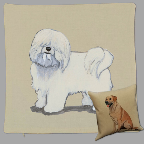 Zeppa Studios' Coton du Tulear Throw Pillow