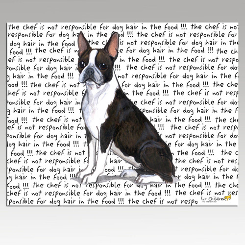 Boston Terrier Message Cutting Board - Rectangular
