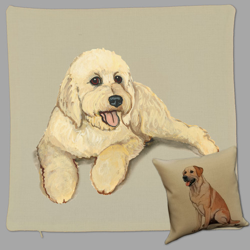 Zeppa Studio's Goldendoodle Throw Pillow