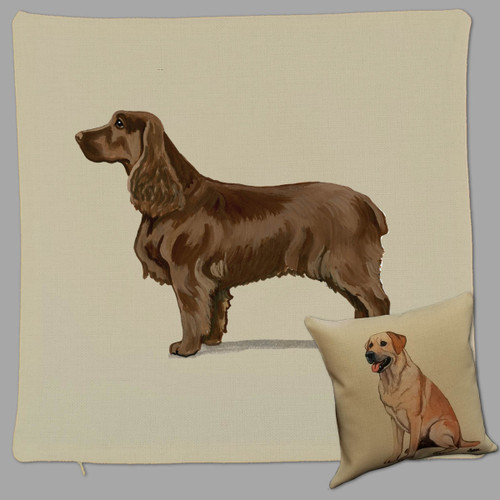 Field Spaniel Throw Pillow