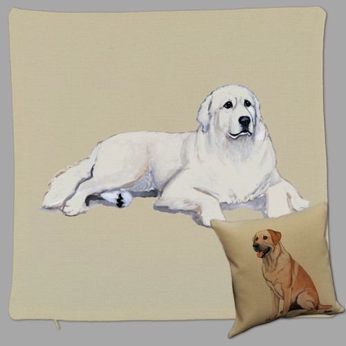 Great Pyrenees Throw Pillow