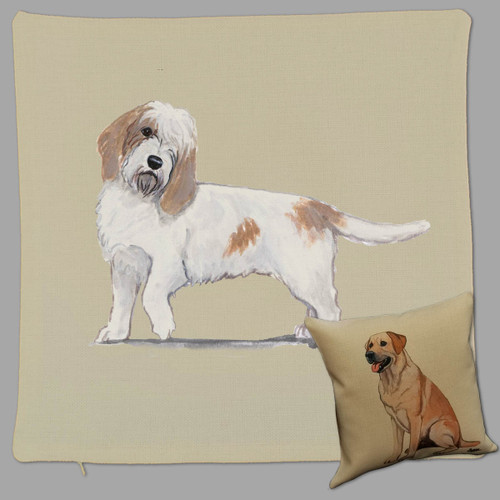 Petite Basset Griffon Vendeen Throw Pillow