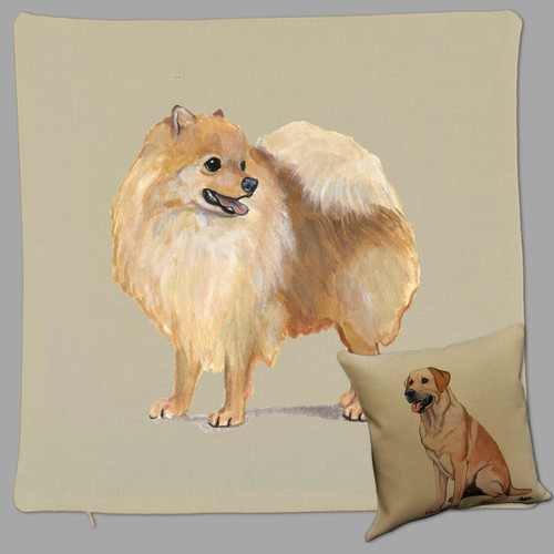 Pomeranian Throw Pillow