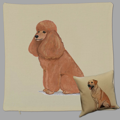 Apricot Poodle Throw Pillow