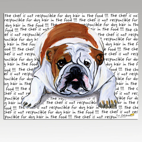 Bulldog Message Cutting Board - Rectangular