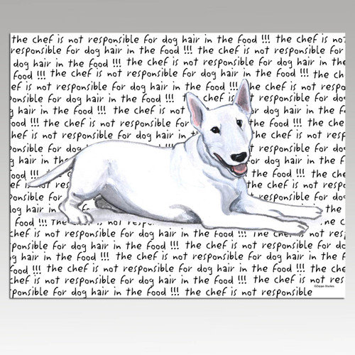 Bull Terrier Message Cutting Board - Rectangular
