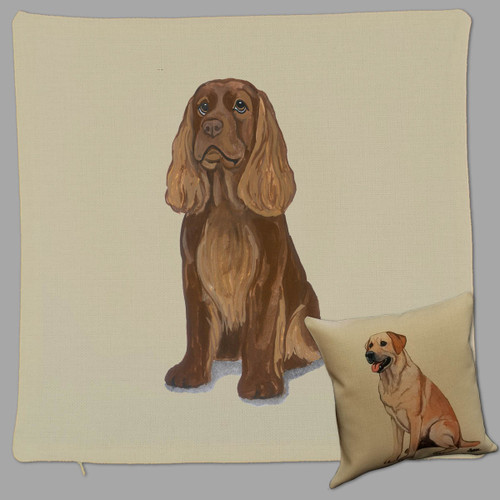 Sussex Spaniel Throw Pillow