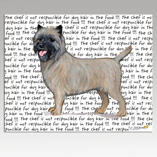 Cairn Terrier Message Cutting Board - Rectangular