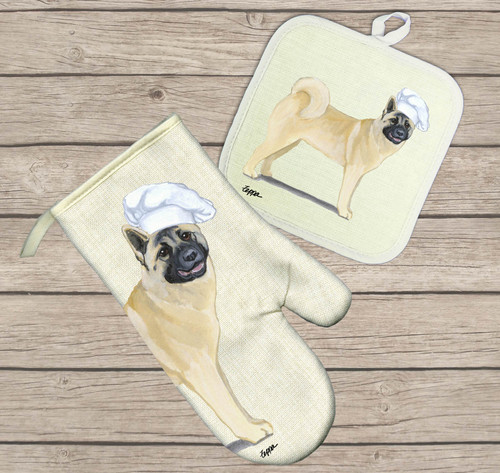 Akita Oven Mitt and Pot Holder Set