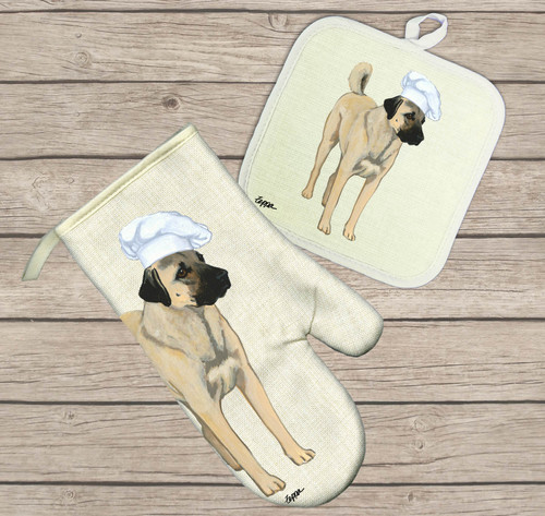 Anatolian Shepherd Oven Mitt and Pot Holder Set
